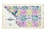 1893, Jo Daviess County Map, Illinois, United States Giclee Print