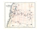 1881, Ellsworth City - Village Plan 1, Maine, United States Giclee Print