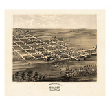 1869, Holden Bird's Eye View, Missouri, United States Giclee Print