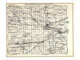 1930, Washtenaw County, Lyndon, Dexter, Webster, Salem, Superior, Ann Arbor, Bridgewater, Saline, M Giclee Print