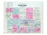 1904, Index Map, Missouri, United States Giclee Print