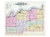 1897, LaFayette County Outline Map, Missouri, United States Giclee Print