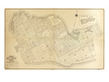 1908, Key West Wall Map from 1829 Maps and Surveys, Florida, United States Giclee Print