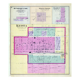 1887, McCreery's Addition, Keota, White Pigeon, Baden, Iowa, United States Giclee Print