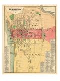 1869, Burlington, Vermont, United States Giclee Print