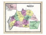 1868, Preston Town, Poquetonock, Preston City, Connecticut, United States Giclee Print