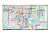 1874, Bloomington - First, Second, Third and Fourth Wards, Illinois, United States Giclee Print