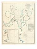 1854, Portland - Maine - Harbor Chart, Maine, United States Giclee Print