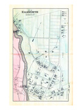 1881, Ellsworth City - Village Plan 3, Maine, United States Giclee Print