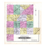 1891, Fayette County Outline Map, Illinois, United States Giclee Print