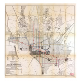 1891, Street Railways, District of Columbia, United States Reproduction procédé giclée