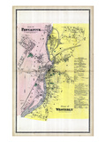 1868, Pawcatuck Plan, Westerly Map, Connecticut, United States Giclee Print