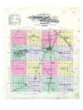 1895, Cerro Gordo County Outline, Iowa, United States Giclee Print