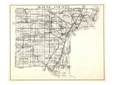 1930, Wayne County, Northville, Livonia, Plymouth, Van Huren, Romulus, Taylor, Browns Town, Sumpter Giclee Print