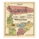1868, Newark, White Clay Creek, McClelandville, Delaware, United States Giclee Print