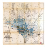 1891, Schedule of Street Sweeping, District of Columbia, United States Giclee Print