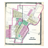 1875, Connersville City, Indiana, United States Giclee Print