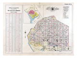 1909, Index Map, District of Columbia, United States Giclee Print