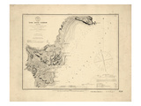 1854, York River Harbor Chart Maine, Maine, United States Giclee Print