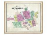 1872, St. Charles, Fox River, Illinois, United States Giclee Print