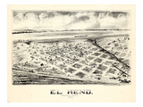 1891, El Reno Bird&#39;s Eye View, Oklahoma, United States Giclee Print