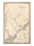 18xx, West Florida Apalachicola River Region - Version 2 with James Island, Florida, United St Giclee Print