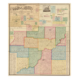 1875, Morgan County Wall Map, Indiana, United States Giclee Print
