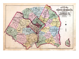 1879, Outline Map - Prince George County, Maryland, Fairfax and Alexandria Counties Virginia, Distr Giclee Print