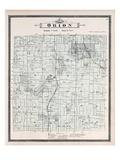 1896, Orion Township, Voorheis Lake, Mahopac, Cole, Lake Judah, Mud Lake, Mill Lake, Michigan, Unit Giclee Print