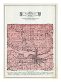 1929, Waterville Township, Lake Tetonka, Horse Shoe Lake, Lake Sakatah, Minnesota, United States Giclee Print