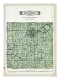 1929, Montgomery Township, Rice Lake, Green Leaf Lake, Lake Volney, Borer Lake, Doylby, Minnesota Giclee Print