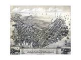 1879, Boston East Boston Bird's Eye View, Massachusetts, United States Giclee Print