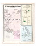 1875, Burlington, Allen Tract, Lowell, Maine, United States Giclee Print
