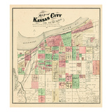 1877, Kansas City and Suburbs, Missouri, United States Giclee Print