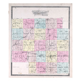 1897, Index Map, Missouri, United States Giclee Print