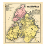 1881, Brooksville and Castine, Maine, United States Giclee Print
