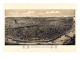 1895, Saint Louis 1895c Bird's Eye View, Missouri, United States Giclee Print