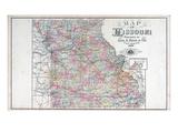 1897, Missouri State Map, Missouri, United States Giclee Print