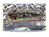 1883, Louisville Southern Exposition Bird's Eye View, Kentucky, United States Giclee Print