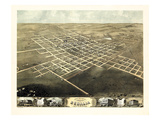1869, Sedalia Bird's Eye Viewfinal, Missouri, United States Giclee Print