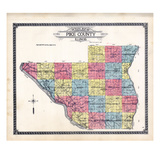 1912, Pike County Map, Illinois, United States Giclee Print