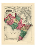 1873, Cumberland and Cape May Counties, New Jersey, United States Giclee Print