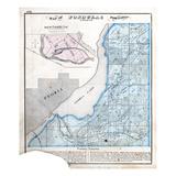 1872, Fondulac Township, Peoria Lake, Illinois, United States Giclee Print