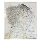1825, Pendleton District surveyed 1820, South Carolina, United States Giclee Print