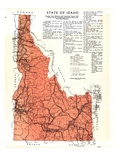1937, Idaho State Map, Idaho, United States Giclee Print