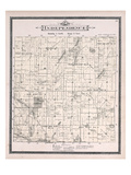 1896, Independence Township, Clarkston, Whipple Lake, Walters Lake, Mill Pond, Michigan, United Sta Giclee Print