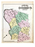 1879, Montgomery County Outline Map, District of Columbia, United States Giclee Print