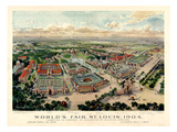 1904, Saint Louis World's Fair Bird's Eye View Unattributed Publisher, Missouri, United Giclee Print