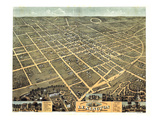 1871, Lexington Bird's Eye View, Kentucky, United States Giclee Print