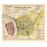 1872, Connellsville, New Haven, Pennsylvania, United States Giclee Print
